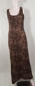 Cheeta Print Maxi Dress Forever 21